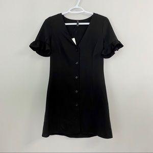 NWT Zara TRF Black Dress S